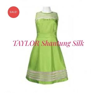 Taylor Shantung silk fit and flare formal dress 2